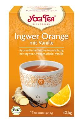 Yogi narancsos gyömbér tea vaníliával bio 17 x 1,8 g
