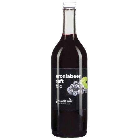 Arónia /fekete berkenye/ lé ,,Gewusst wie'' – bio - 100%-os, hozzáadott cukor nélkül - 750 ml