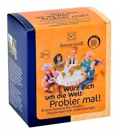 Sonnentor ''Fűszerezd körbe a világot!''- 10 különféle bio fűszerkeverék 50 g