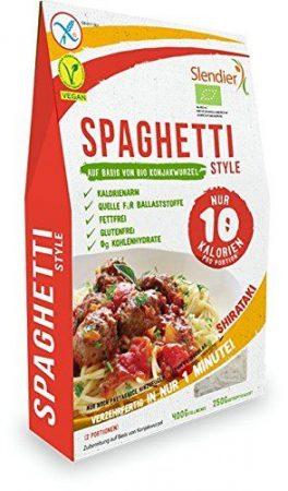 Shirataki spagetti bio nettó 400 g / töltő 250 g
