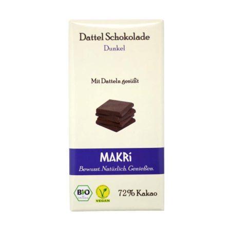 Makri datolya étcsokoládé bio 72% 85 g
