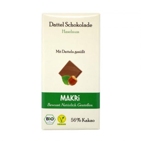 Makri datolya csokoládé mogyoróval bio 56% 85 g