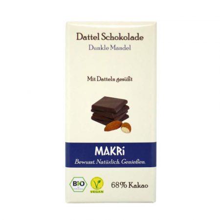 Makri datolya étcsokoládé mandulával bio 68% 85 g
