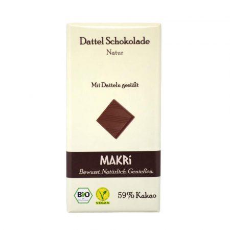 Makri datolya csokoládé natúr bio 59% 85 g