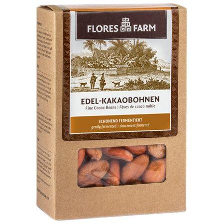 Flores Farm egész kakaó bab raw bio 90 g